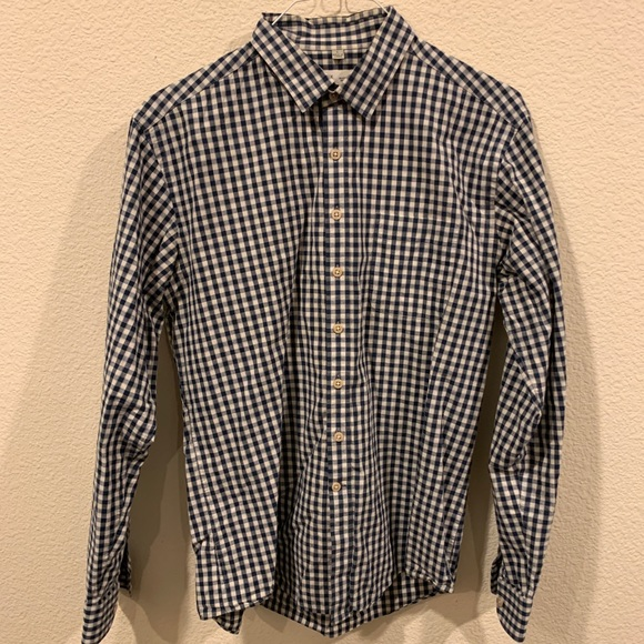 Frank & Oak Other - Frank & Oak navy white checkered button down shirt
